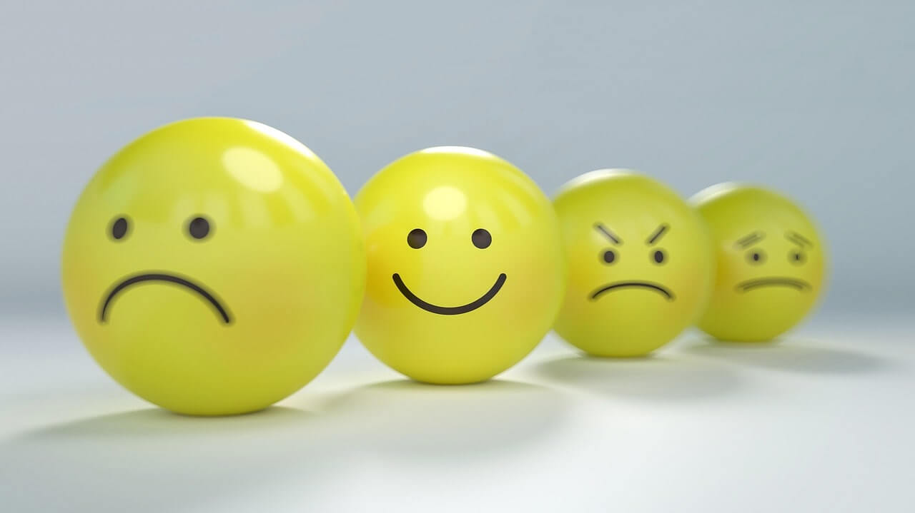 Yellow emotion faces